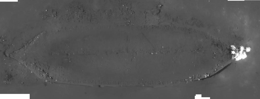 2009 Photomosaic of the Ewing Bank Wreck. Mosaic by Dan Warren, C&C Technologies.